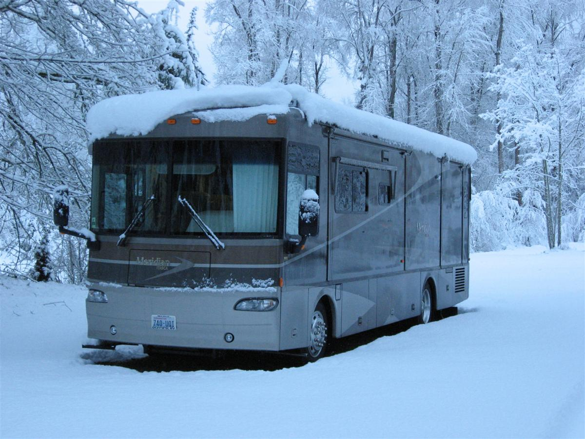 Winter RV Driving Tips How To Drive Motorhomes  Trailers Safely - Small motor homes