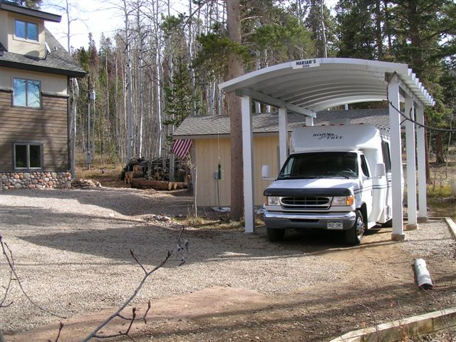 Motorhome storage sheds inspiration for Carports for motorhomes